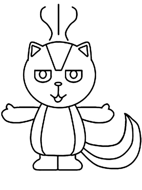 Skunk, : Skunk Smell Bad Coloring Page