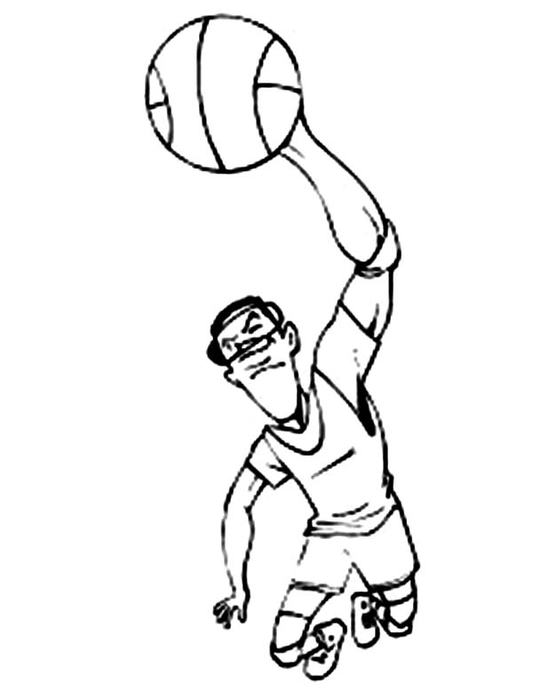 NBA, : Slam Dunk Champion of NBA Coloring Page