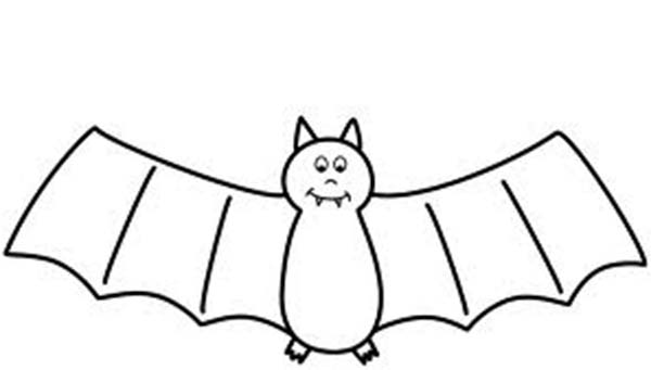 Bats, : Smiling Bats Coloring Page