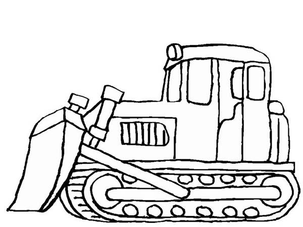 Digger, : Snow Mover in Digger Coloring Page