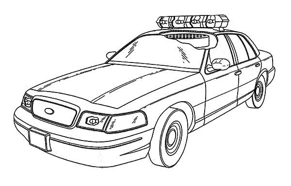 special force police car coloring page