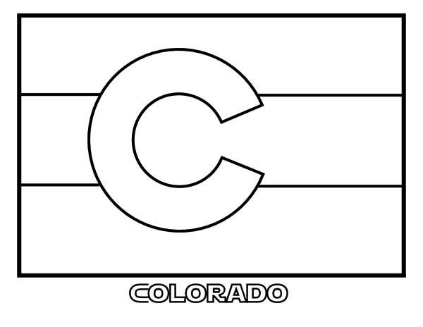 State Flag, : State Flag of Colorado Coloring Page