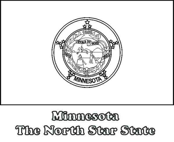 State Flag Of Minnesota Coloring Page