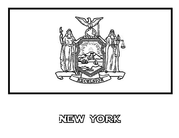 new york flag coloring page state flag of new york coloring page color luna