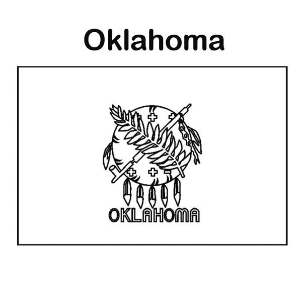 oklahoma state coloring pages - state flag of oklahoma coloring page state flag of