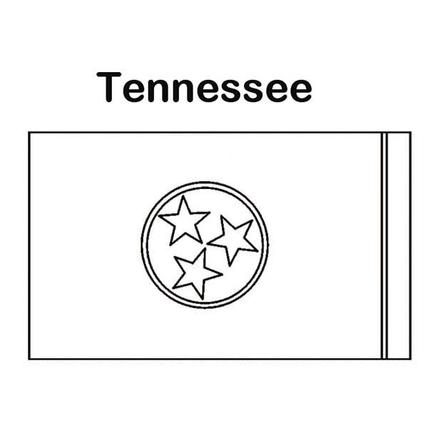 State Flag of Tennessee Coloring Page Color Luna