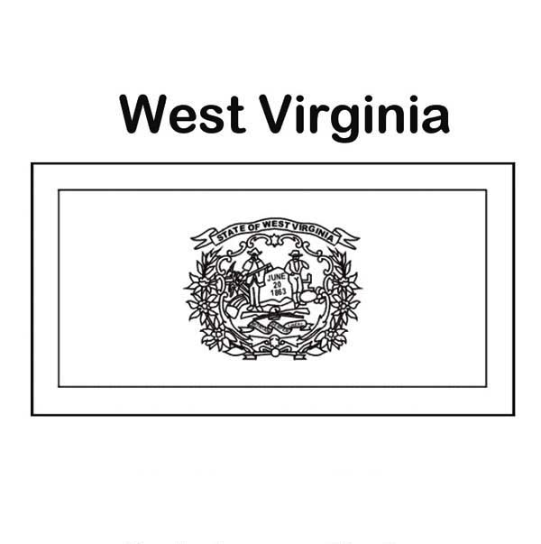 State Flag, : State Flag of West Virginia Coloring Page