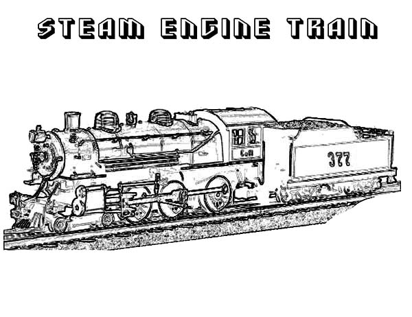 steam engines coloring pages - photo#35