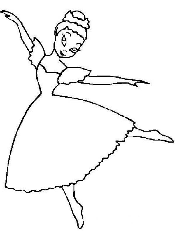 Swab Dance Ballerina Coloring Page Color Luna