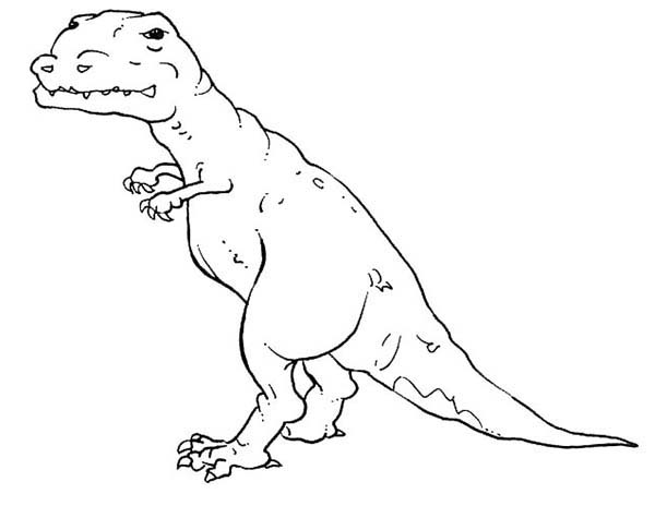 T-Rex, : T Rex Coloring Page for Kids
