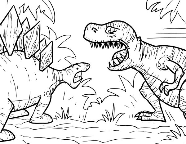T-Rex-Had-a-Lot-of-Sharp-Teeth-Coloring-Page