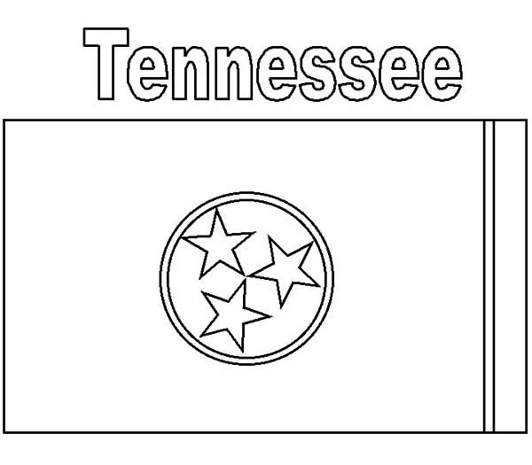 Tennessee State Flag Coloring Page Color Luna