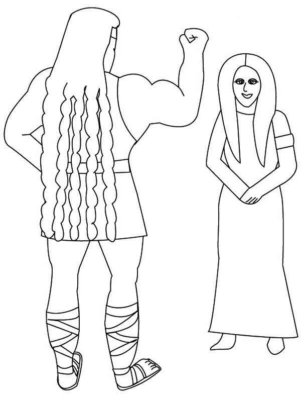 2017 samson delilah coloring pages and