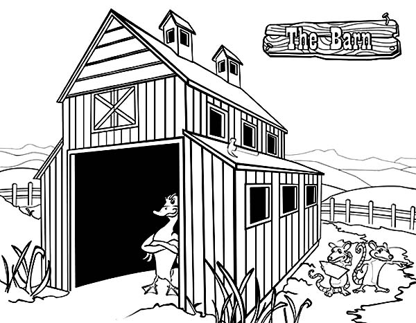 Barn, : The Barn The Series Coloring Page