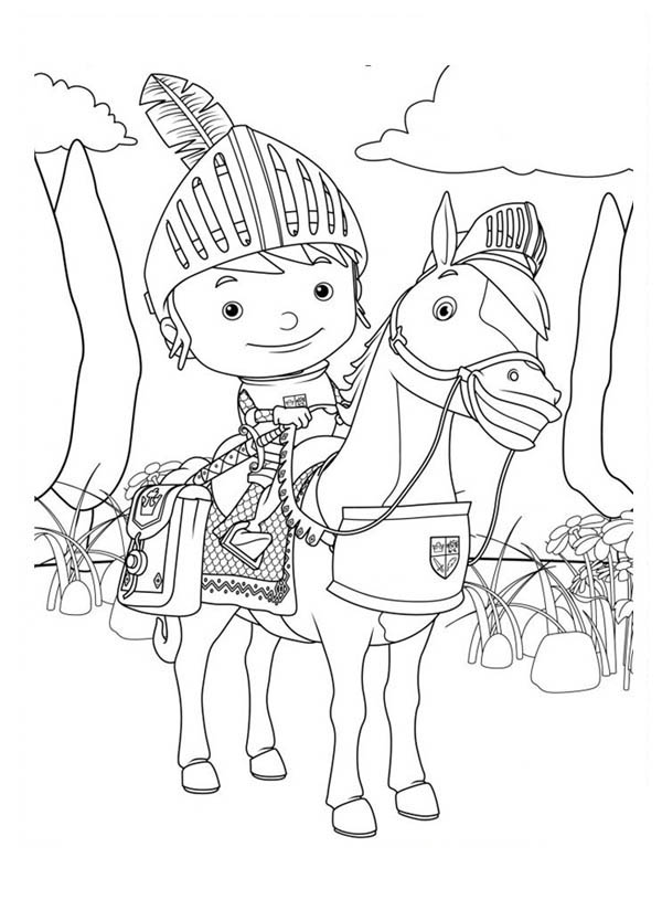 The Brave Mike the Knight Coloring Page | Color Luna