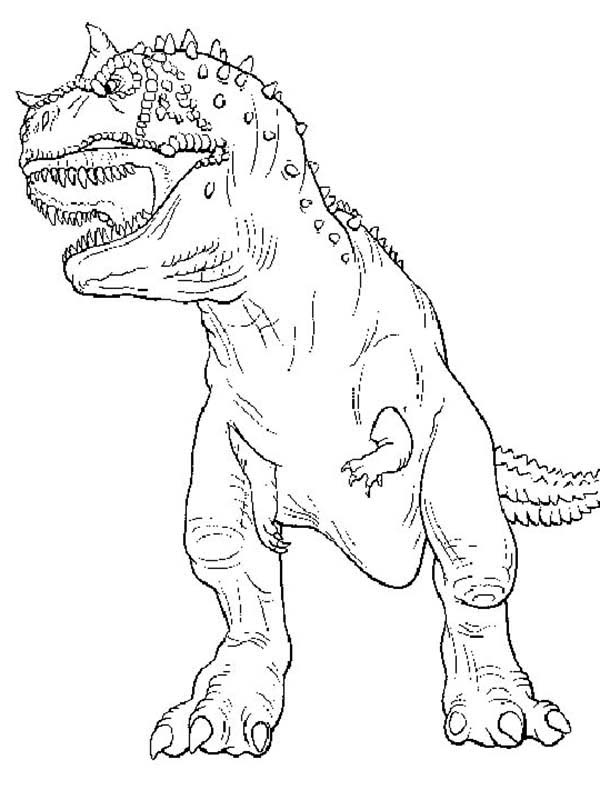 T-Rex, : The Legendary T Rex Coloring Page