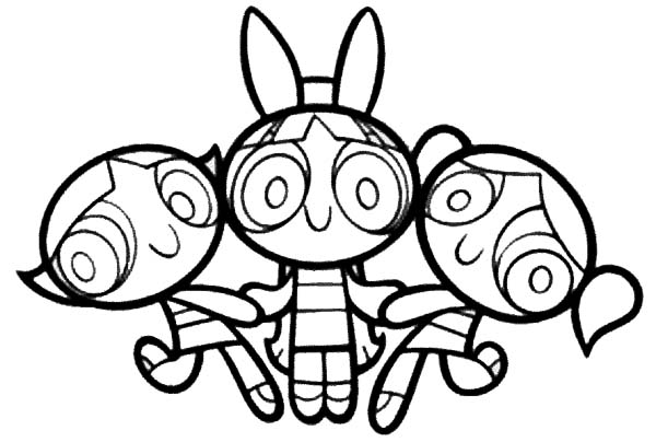 the powerpuff girls love each other coloring page - Coloring Pages Powerpuff Girls