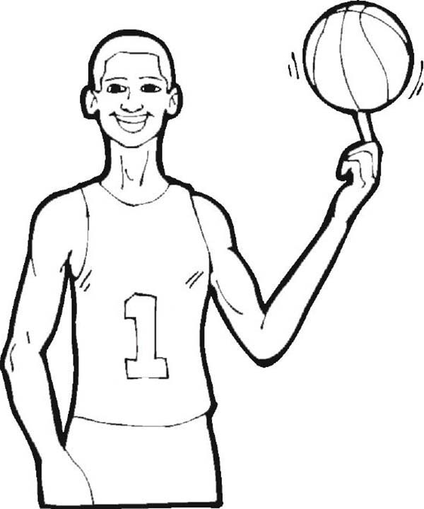 NBA, : The Tallest NBA Player Coloring Page