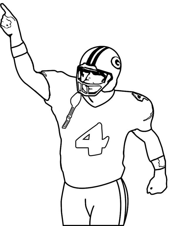 NFL, : Touch Down in NFL Coloring Page