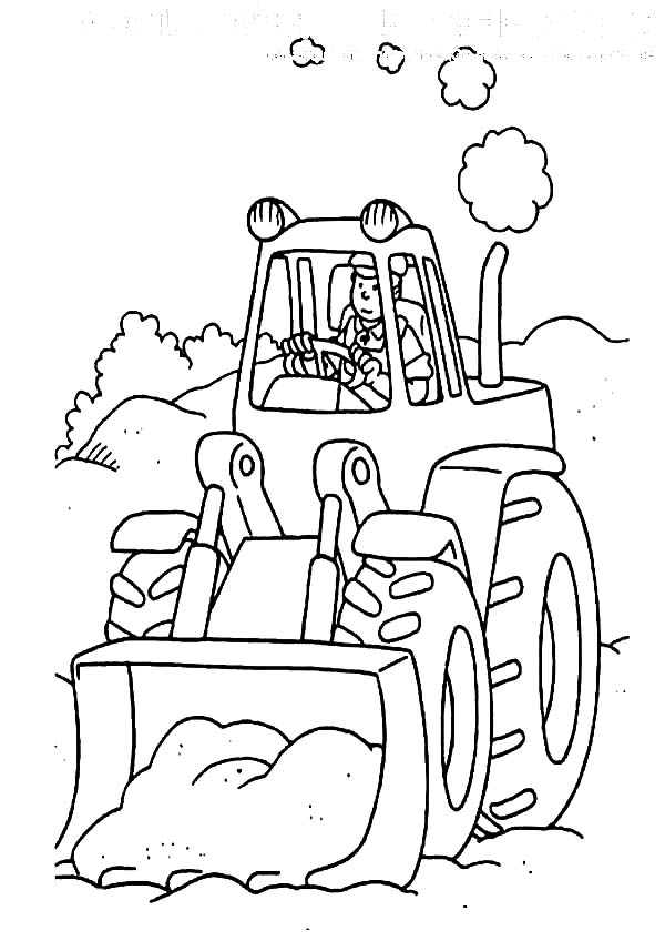 Digger, : Tractor the Digger Coloring Page