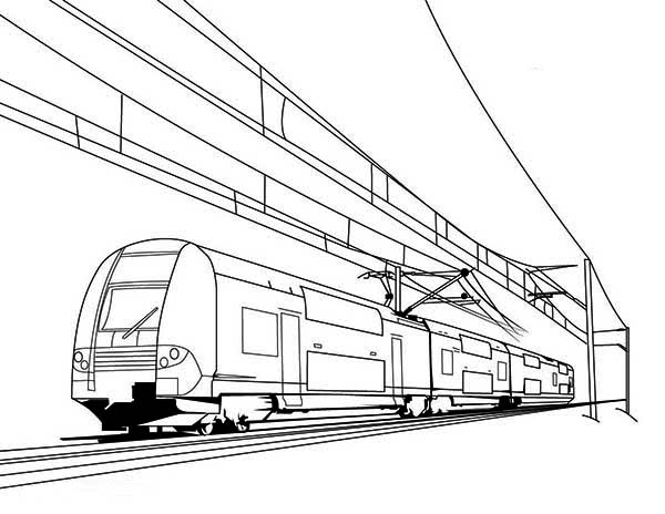 train on electric cable coloring page color luna sketch