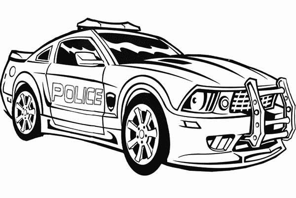 Awesome Police Car Coloring Page | Color Luna