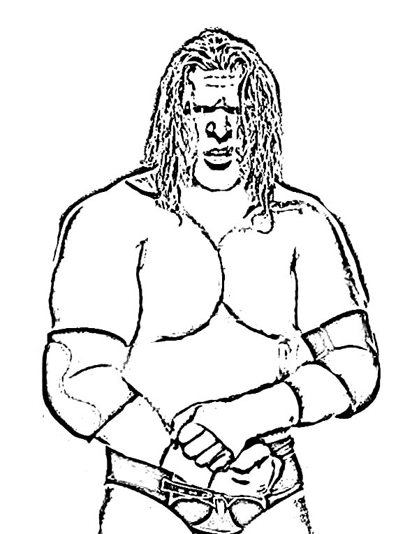 triple h from world wrestling entertainment coloring page
