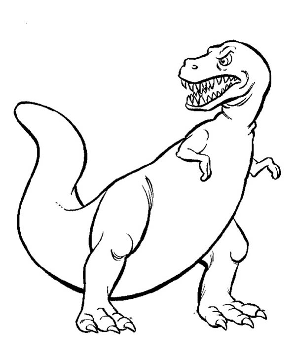 T-Rex, : Tyrannosaurus is T Rex Coloring Page
