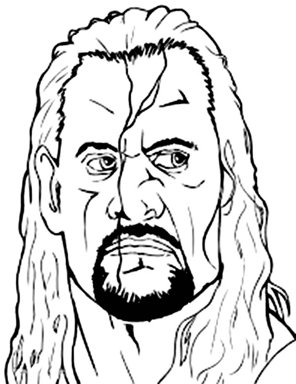 Wrestling, : Undertaker from World Wrestling Entertainment  Coloring Page
