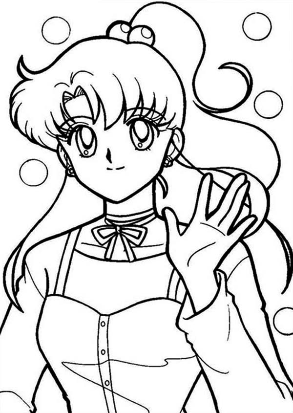 Sailor Moon, : Usagi Chan is Sailor Moon Coloring Page
