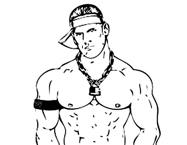 wrestling decisive contender john cena coloring page