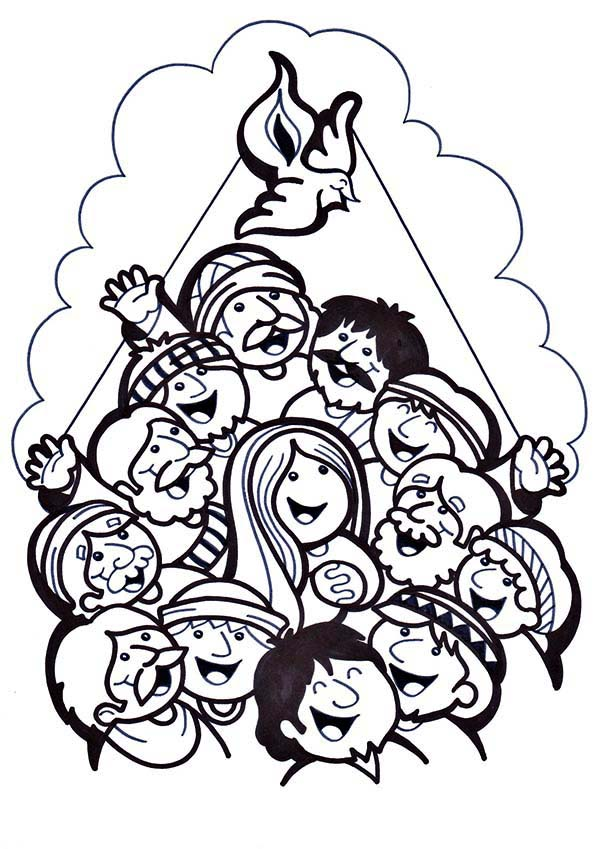 A feast for follower of jesus in pentecost coloring page for Pentecost coloring pages
