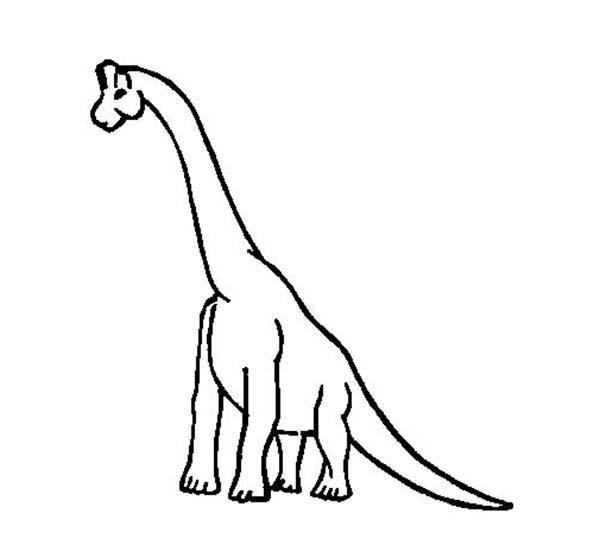 Brachiosaurus, : Brachiosaurus Outline Coloring Page