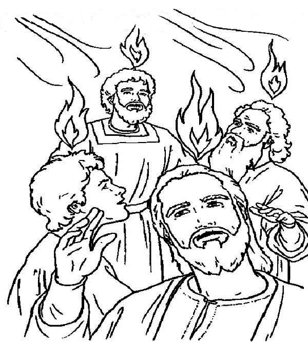 Pentecost coloring pages printable coloring pages for Pentecost coloring pages