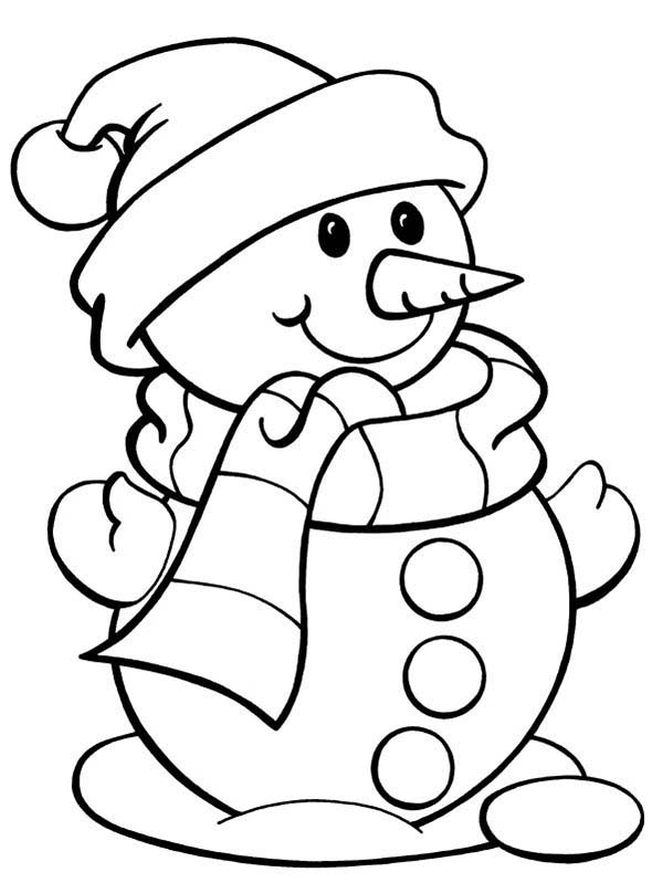 christmas girl snowman coloring pages - photo#6