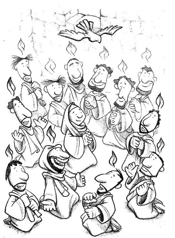 pentecost coloring pages feast of the weeks in pentecost coloring page color luna