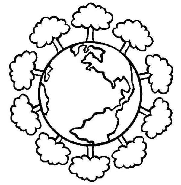 Having a Healthy Forest on Earth Day Coloring Page | Color Luna