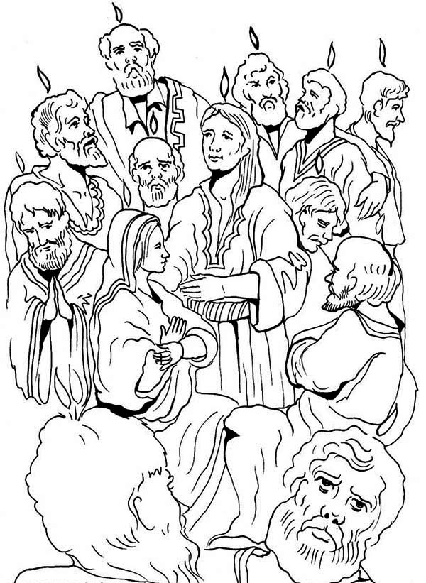 Pentecost, : Jewish Harvest Festival in Pentecost Coloring Page