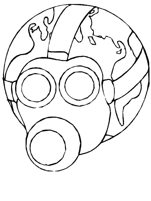 Earth Day, : Less Toxic Environment on Earth Day Coloring Page