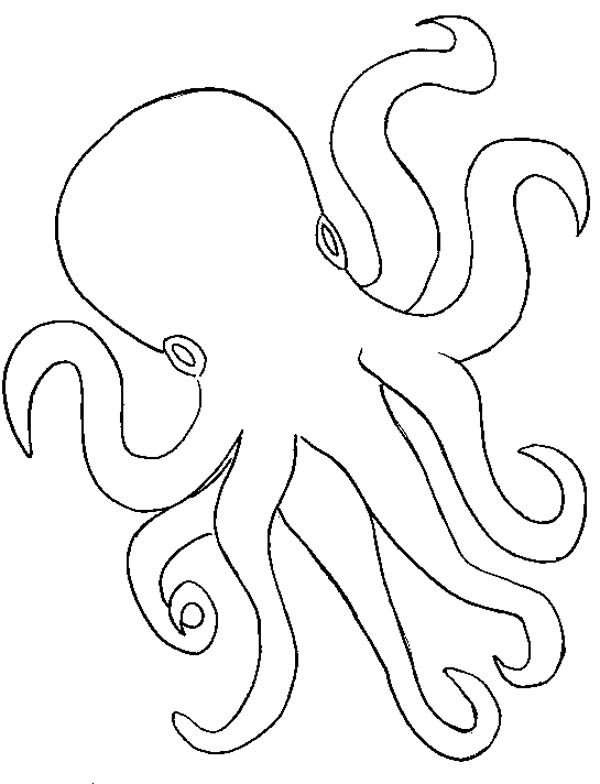 ... Outline Coloring Page: Octopus Outline Coloring Page u2013 Color Luna