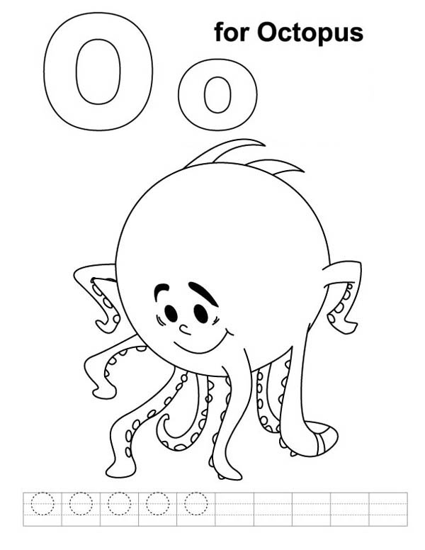 Octopus, : Octopus Standing on His Feet Coloring Page