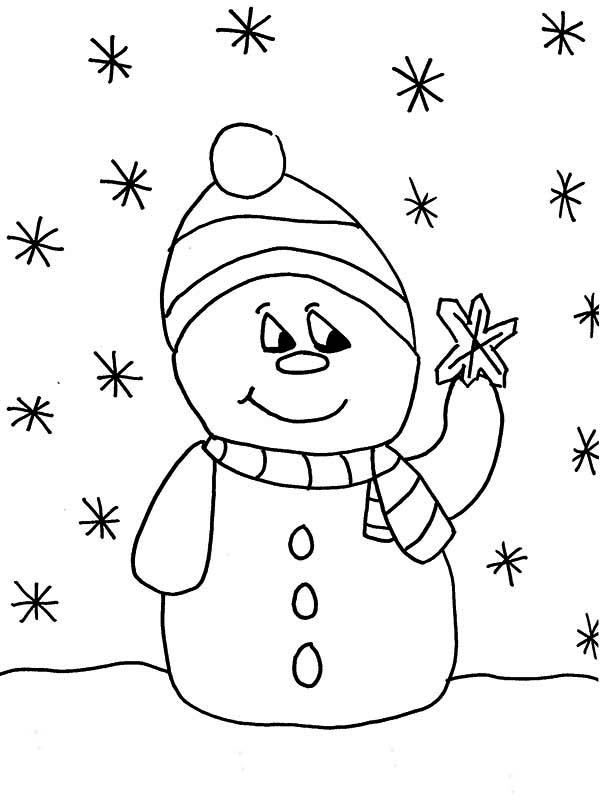 snowman shovel coloring pages - photo#28
