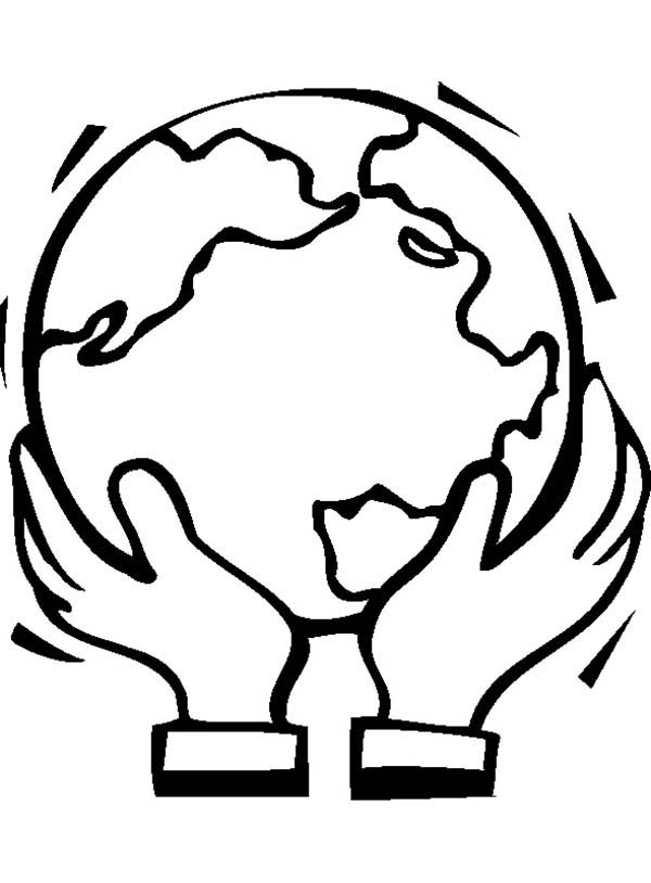 Earth Day, : Supporting Our Earth on Earth Day Coloring Page