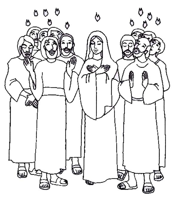 pentecost the apostle of jesus is praise for holy spirit in pentecost coloring page