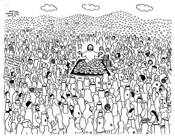 Pentecost, : The Followers of Jesus All Over the World Celebrate Pentecost Coloring Page