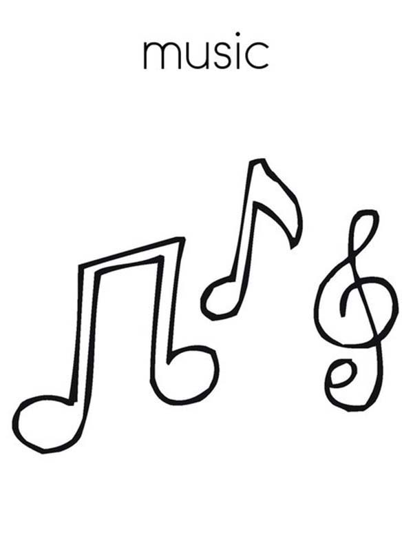 treble clef is music note coloring page - Music Notes Coloring Pages