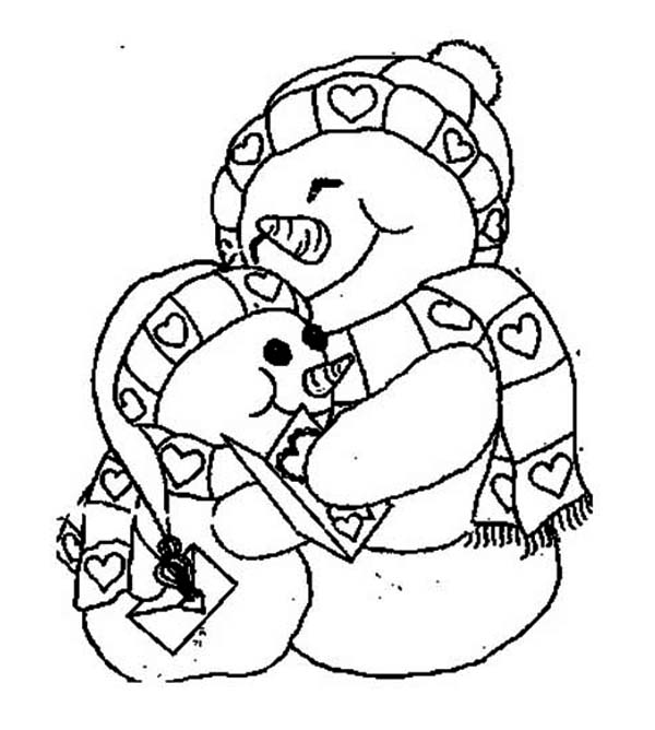 christmas girl snowman coloring pages - photo#5