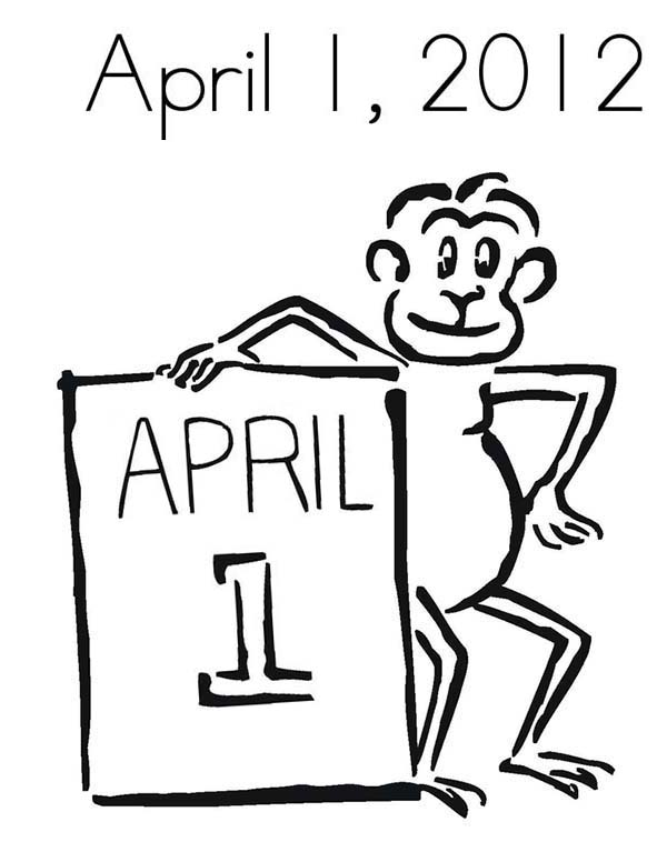 April fools, : April Fools Day in 2012 Coloring Page
