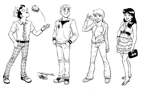 Archie Coloring Pages