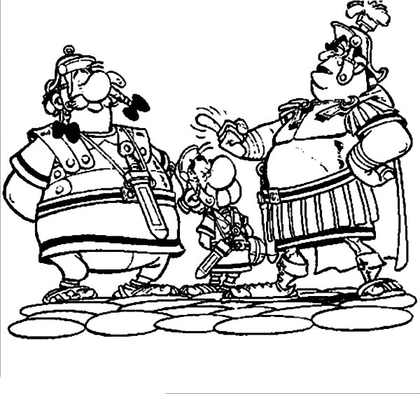 Asterix, : Asterix and Obelix in Asterix the Legionary Coloring Page